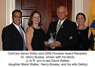Henry I. Bussey, Pharm.D. honored with Pinnacle Award