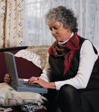 Image of woman using her computer